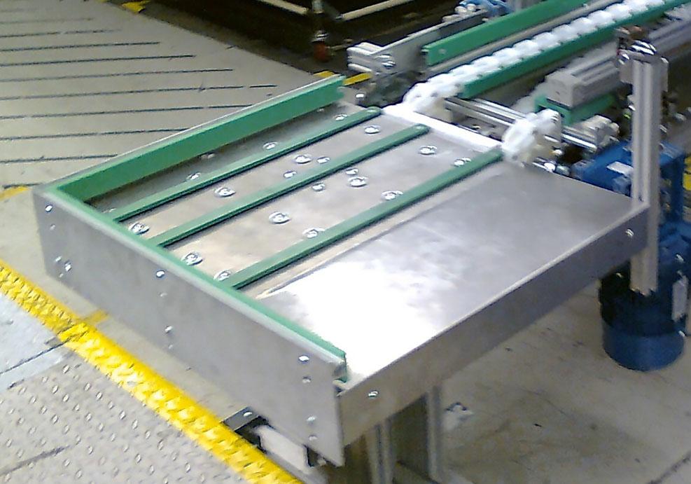 Transportadores: mesa de elevación neumática