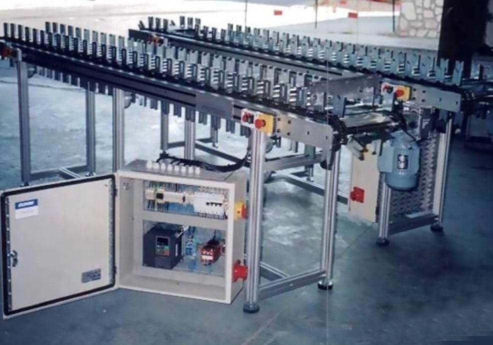 Transportadores de cadena con posicionamiento